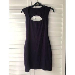 American Apparel purple bodycon cutout dress